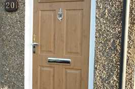 uPVC Door with Light Wood Finish