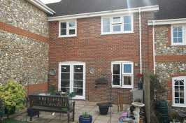 Back Garden with 3 uPVC Windows & Bi Folding Doors
