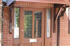 uPVC Door with wood finish
