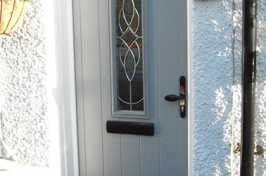 Grey uPVC Door with Double Glazing