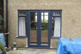 Rear Black Bi Folding Door